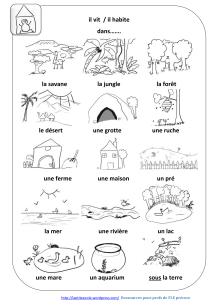 Les animaux/habitats