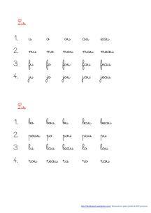 lecture de syllabes à projeter au tableau Rituel