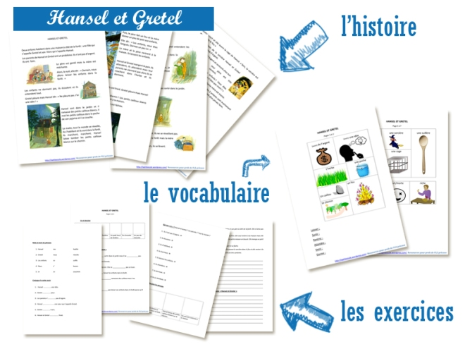 Hansel et Gretel FLE Lecture francais facile A2 Conjugaison