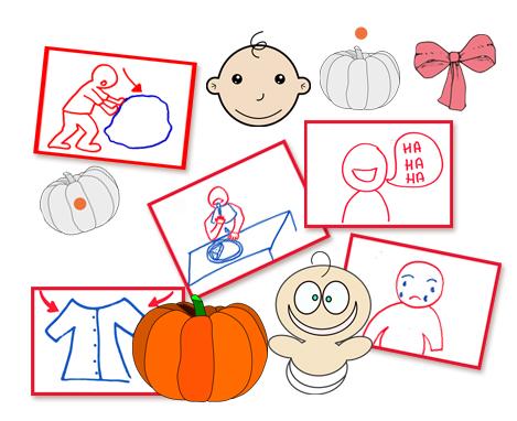 Halloween flashcards FLE enfants Citrouilles Bebes PDF
