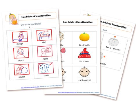 Halloween flashcards FLE enfants Citrouilles Bebes télécharger