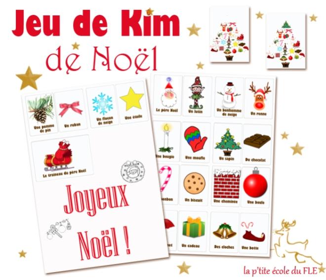 jeu-de-kim-noel FLE Télécharger Jouer enfants français vocabulaire