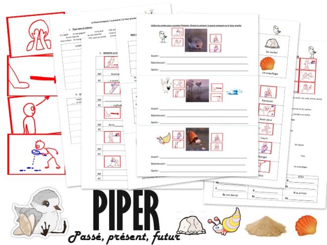 FLE video enfants passé composé futur présent conjugaison exercice flashcards PDF