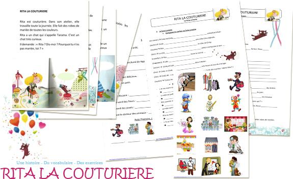 Rita la couturière Vive les mariés FLE PDF Livre en français facile à télécharger