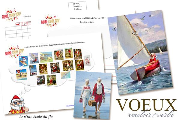 Le Pere Noel activité été FLE vacances télécharger PDF Bonne annee