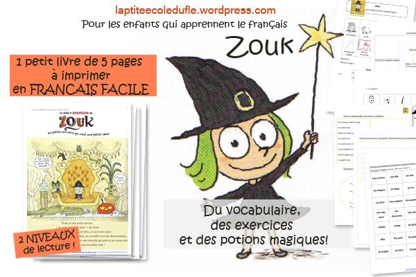Zouk lecture facile A1 A2 halloween en classe de fle enfants precoce a telecharger PDF