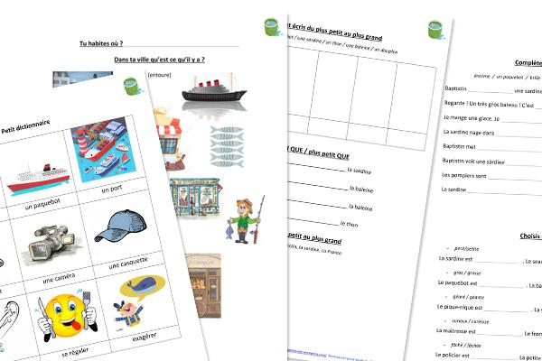 Fle lecture facile A1 A2 Vocabulaire COmparaison lexique enfants pdf télécharger Histoire drole