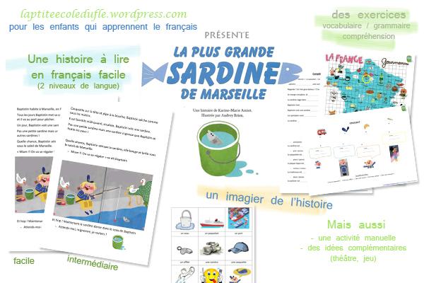 Fle lecture facile A1 A2 Delf Prim pdf télécharger Histoire drole Sardine marseille Profs