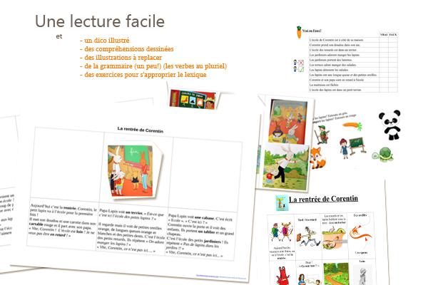 Lecture en francais facile débutants A1 Rentrée Enfants Histoire Exercices à télécharger