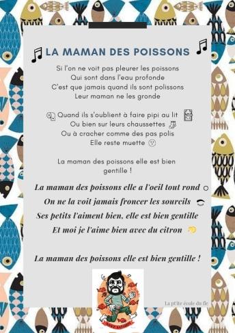 la maman des poissons fle paroles poisson d'avril chanson enfants français