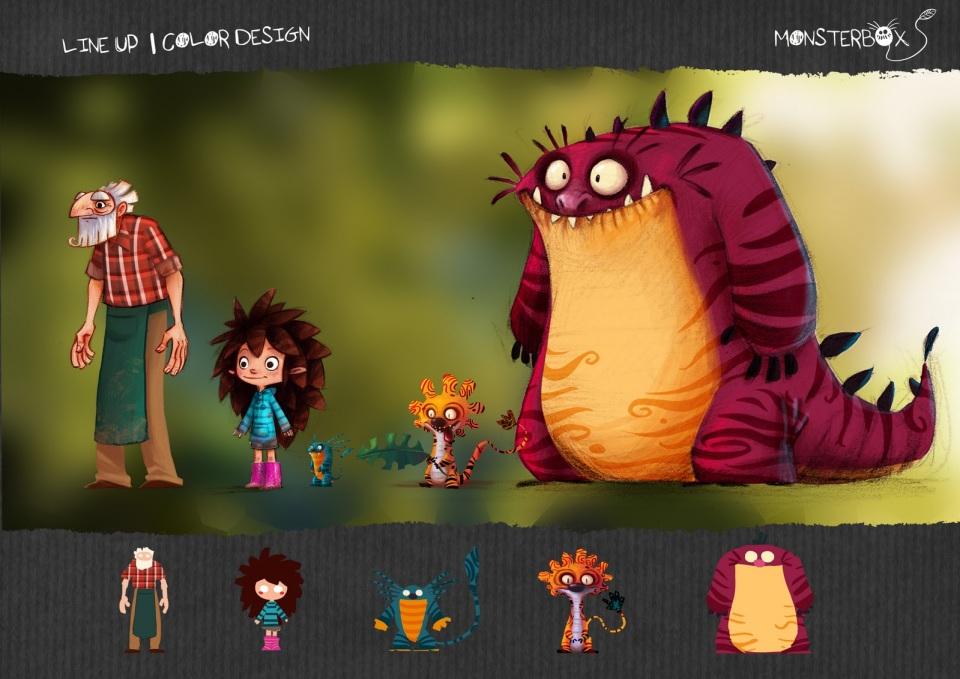 FLe vidéo enfants Monsterbox Comparaison Adjectif Description Monstres Mignon Court métrage classe