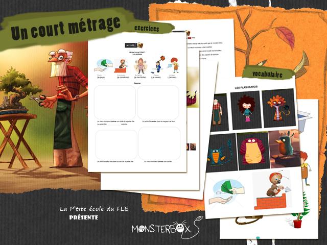 Fle enfants Video Monsterbox à télécharger activités apprendre le français