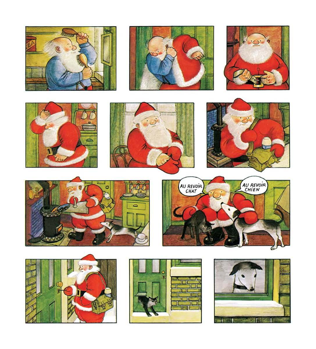 La matinée du père Noël Routine Activités quotidienne Vocabulaire de Noel Lexique de Noel FLE enfants