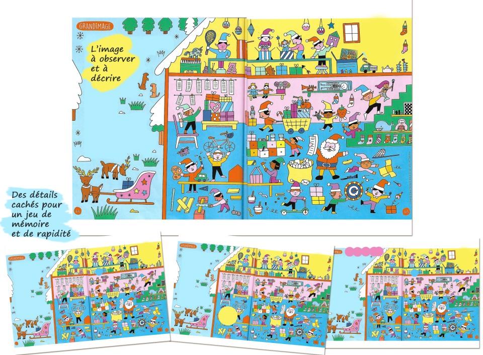 Jeu d'observation et de mémoire Vocabulaire de Noel Lexique de Noel FLE enfants
