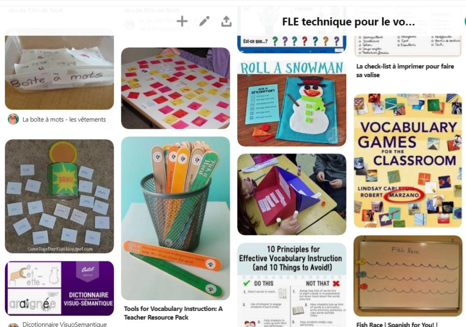 Pinterest pour profs de FLE aux enfants au primaire en maternelles enseignants de français