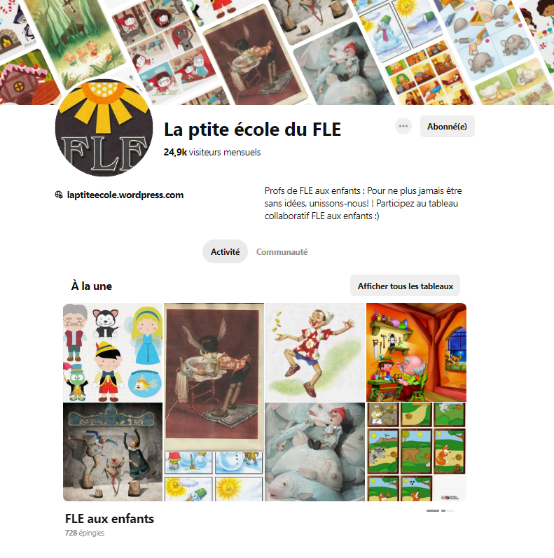 Pinterest Fle auxenfants Tableau collaboratif FLE Group Board French teachers